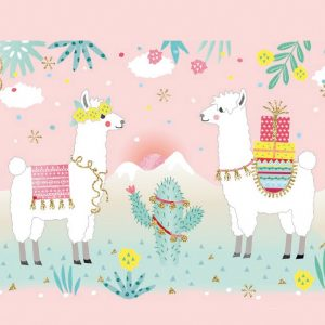 Two Decorate Llamas Decoupage Napkin