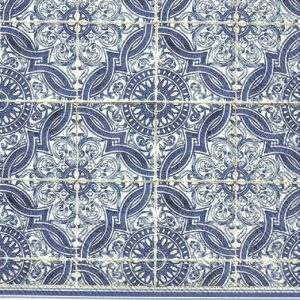 Blue Tiles Decoupage Napkin
