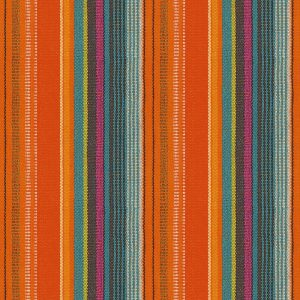 Orange With Blue Stripes Decoupage Napkin