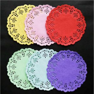 Round Colour Paper Lace Doilies