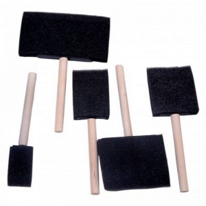 Art Tools - Black Sponge Brush Set Of 5