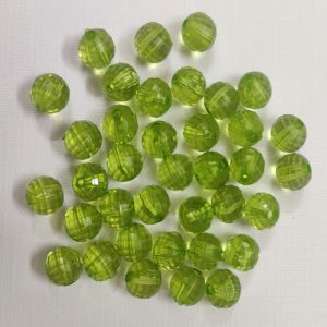 Transparent Acrylic Beads - Parrot Green
