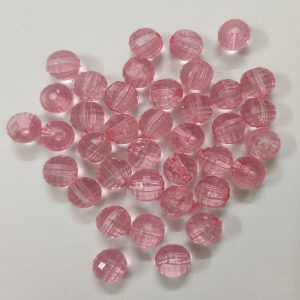 Transparent Acrylic Beads - Pink
