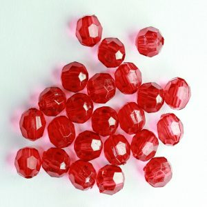 Transparent Acrylic Beads - Red