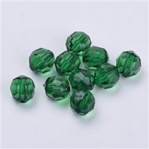 Transparent Acrylic Beads - Dark Green