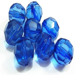 Transparent Acrylic Beads - Royal Blue