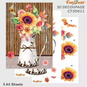 Craftreat 3D Decoupage Sheet - Flower Vase