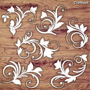 Craftreat Chiplets - Leafy Swirls