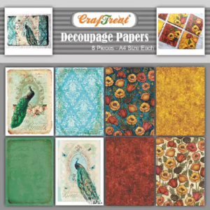 Craftreat Decoupage Paper - Peacock And Poppy Garden