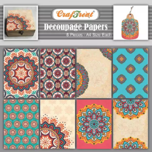 Craftreat Decoupage Paper - Mandala 1 and 2
