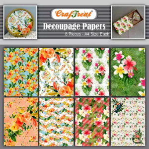 Craftreat Decoupage Paper - Summer Flowers and Tropical Flowers