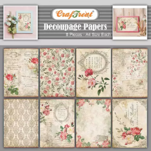 Craftreat Decoupage Paper - French Florals 1 and 2