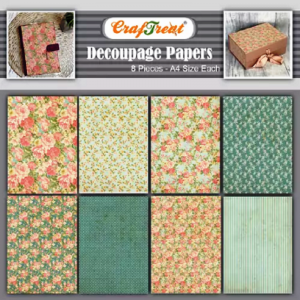 Craftreat Decoupage Paper - Mini Flowers