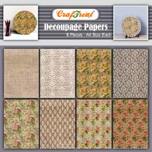 Craftreat Decoupage Paper - Burlap Flowers