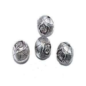 German Silver Round Shape Beads