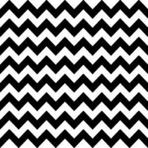 Chevron Black And White Decoupage Napkin