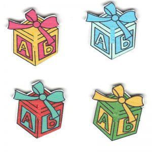 Wooden Embellishments - Gift Box