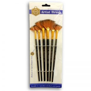 6 Pieces Fan Painting Brush