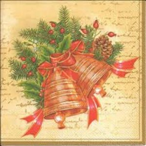 Christmas Bells Decoration Decoupage Napkin