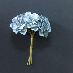 Fabric Flower - Grey