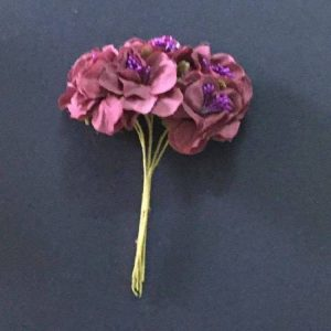 Fabric Flower - Grape