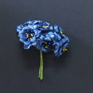 Fabric Flower - Airforce Blue
