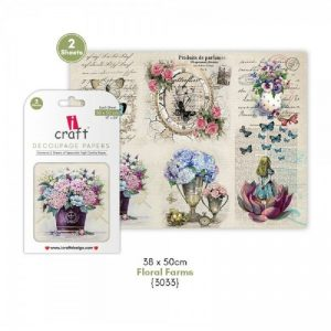 iCraft Decoupage Paper- Floral Frames