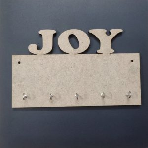 MDF Rectangle JOY Key Hanger