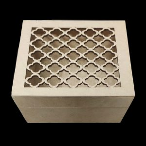 Trellis Pattern Square MDF Box