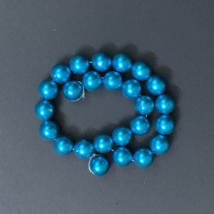 Faux Pearl Round Beads - Blue