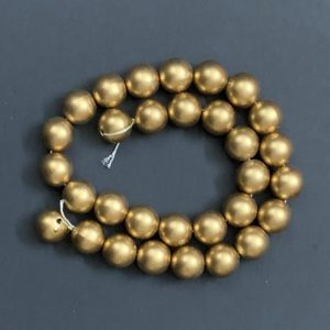 Faux Pearl Round Beads - Gold