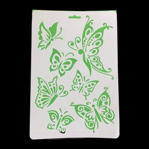 A4 Stencil - Mixed Shape Butterfly