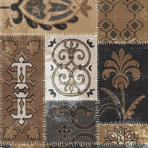 Moroccan Brown Printed Decoupage Napkin