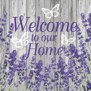 Welcome To Our Home Decoupage Napkin
