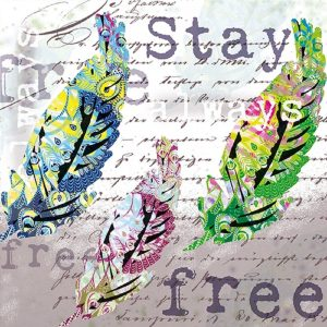 Stay Always Free Decoupage Napkin