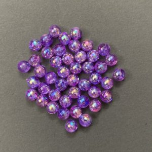 Dual Town Acrylic  Beads - Purple