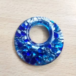 Round Glass Pendant - Blue