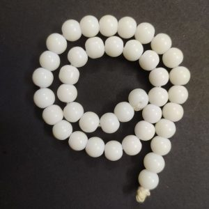 Round Glass Beads - White