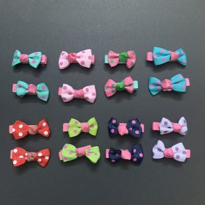 Grosgrain Polka Dots Bow Clips