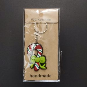 PVC Key Chain - Candy Cane