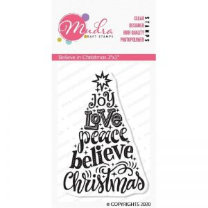 Mudra Clear Stamp - Believe in Christmas