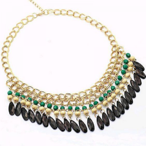 Bohemian Style Beads Necklaces Green