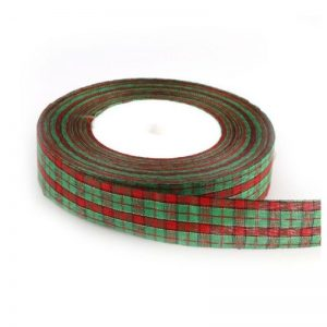 Christmas Plaid Organza Grosgrain Ribbon