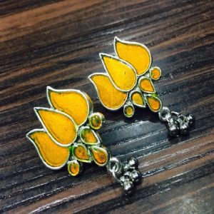 Lotus Earrings - Yellow