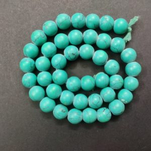 Round Glass Beads - Turquoise Green