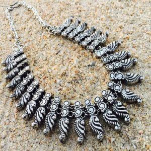German Silver Mango Pattern Style 1 Necklace