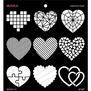 Mudra Stencil - Patterned Heart