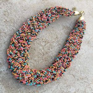 Bohemian Style Braided Beads Necklace