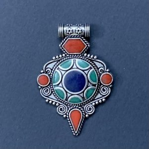 German Silver Mixed Colour Pendant