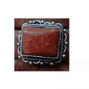 Adjustable Ring - Glitter Brown